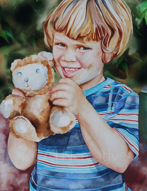 """My Bear"" watercolor by Shannon"