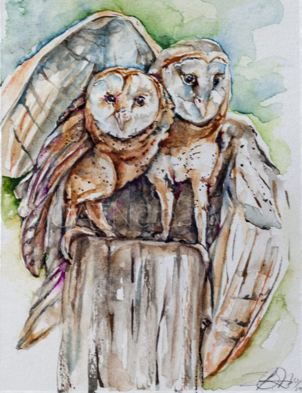 """""""Together for Life"""" watercolor by Shannon"""