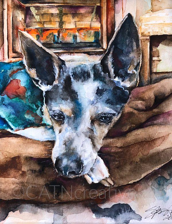 """""""Dottie"""" watercolor by Shannon"""