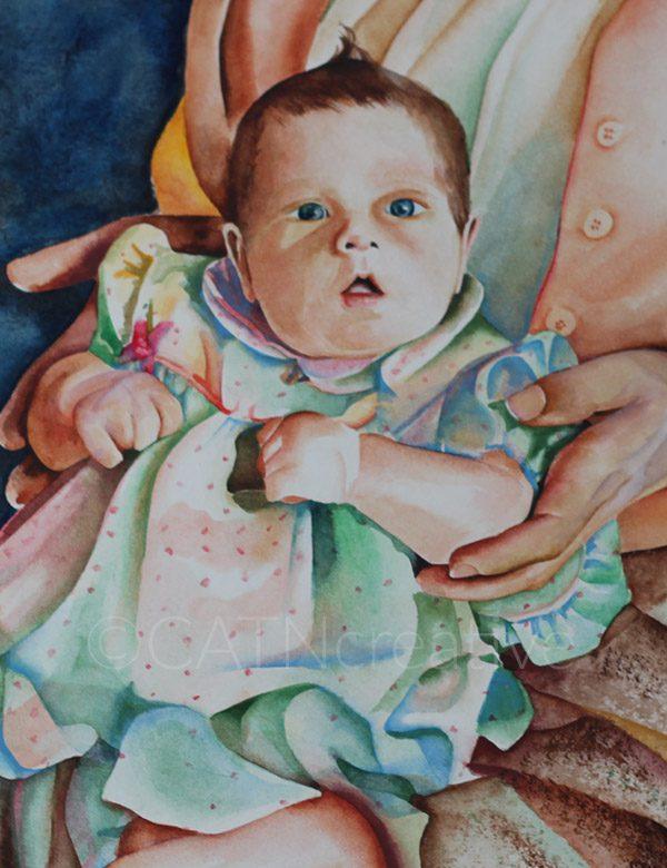 """Grandchildren"" watercolor by Shannon"